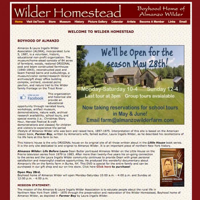 Wilder Homestead, Boyhood home of Almanzo Wilder
