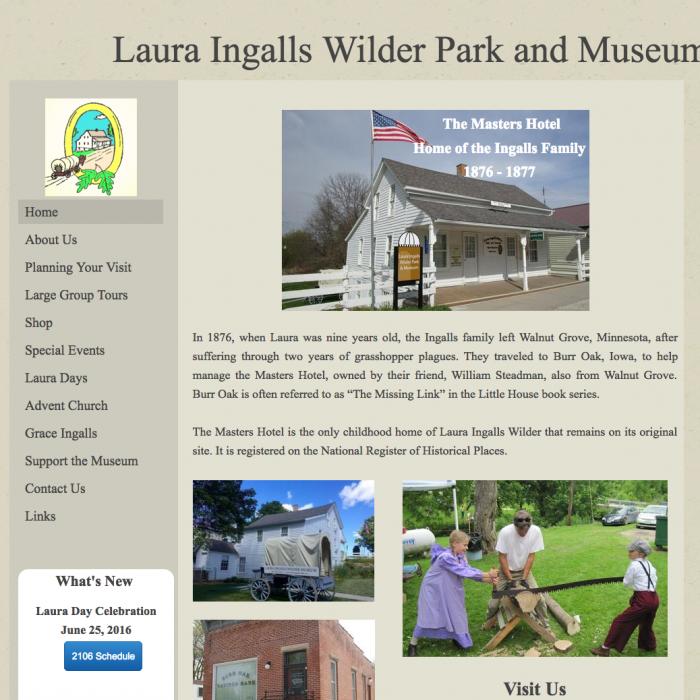 Laura Ingalls Wilder Park and Museum – Burr Oak, IO