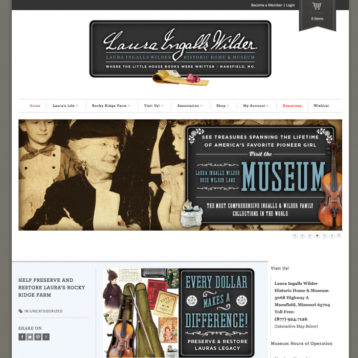 Laura Ingalls Wilder Historic Home & Museum, Mansfield, Mo